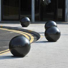 Marton granite spherical bollards