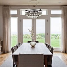 Contemporary Dining Photos Pattern Curtains Design Ideas, Pictures, Remodel, and Decor - page 6