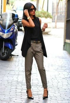 Chaleco negro jean