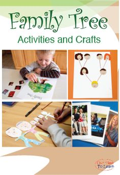 Fun Family Tree Activity ideas from the Our Time to Learn blog and workbook! For ages 4-6, preschool, kindergarten, 1st grade, and homeschool.