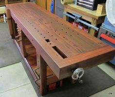Now that's a workbench! Woodworker John Tetreault shows you how to build a Roubo workbench with a timber-frame soul, step-by-step, in this Video Workshop series.