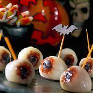 Eyeballs On A Stick Halloween recipe