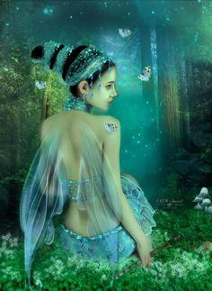 """Elves Faeries Gnomes: #Faery ~ """"Night Song,"""" by DesignbyKatt, at deviantArt."""