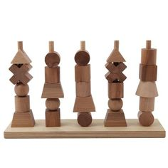 Wooden Story plug toy nature (FSC)