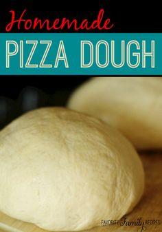 Homemade Pizza Dough via @favfamilyrecipz