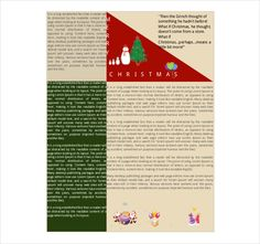 free christmas newsletter templates include when sending out cards