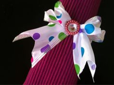 Preppy polkadot napkin rings  by CityAndShoreStore on Etsy, $10.99