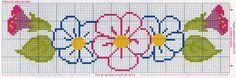 Bordado Passo a Passo: Ponto cruz - Flores