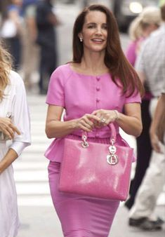 """Seriously, who else could pull off head to toe pink as well as this? 