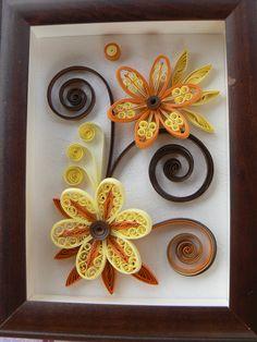 fleurs orange et jaune