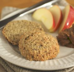 flourless bisquit made with quinoa, buckwheat, and fresh ginger!  serve with almond butter.  yum