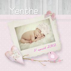 Design Birth Announcement/ Geboortekaartje by Babyjewels  www.kaartje2go.nl