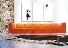 Girl with Balloon by Banksy  Canvas Picture