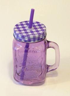 c8c60d2d90 Vintage üveg pohár szívószállal. Limonádés bögre. Füles bögre csavaros fém  fedéllel.