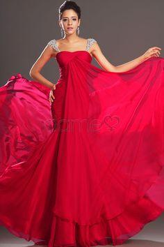 Tülle Overlay Meerjungfrau Perlen Chiffon gefaltetes zierliches volle länge Ball/ Abendkleid