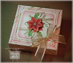 Gorgeous box by Theresa Momber using Scor-pal. Stamps from Gina K Designs.
