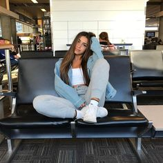 """67.1k Likes, 403 Comments - Claudia Tihan (@claudiatihan) on Instagram: """"MIA ✈️ LAX (ps: i've been obsessing over this @babyboofashion jean jacket . you can get 15% off…"""""""