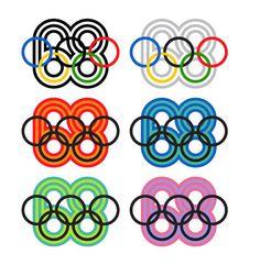 1968 Mexico Olympics Logo and Brand Identity by Lance Wyman