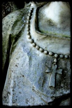 Wonderful Bust of A Woman with a Cross....
