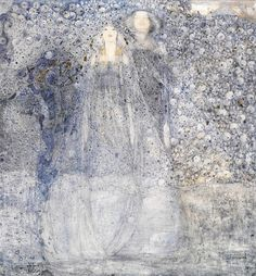 Margaret Macdonald Mackintosh (British, 1895-1933), The Silver Apples of the Moon, 1912. Pencil and watercolour, with highlights of gilt paint and gum arabic, on gesso prepared paper, laid on...