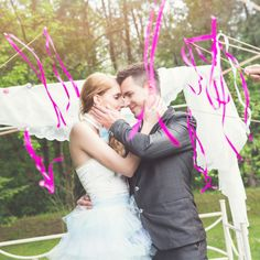 Wedding ribbon wands with tinklers. It's a perfect alternative of throwing rice after the ceremony. You can order it in different colours! Wedding Ribbon Wands, Heaven Images, Made In Heaven, Different Colors, Colours, Table Decorations, Alternative, Rice, Products
