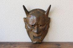 Vintage Japanese iron Noh mask Hannya devil mask Japanese oni mask evil mask demon mask Vintage Gifts, Vintage Decor, Etsy Vintage, Vintage Shops, Antique Collectors, Antique Stores, Japanese Oni Mask, Evil Mask, Gifts For Horse Lovers
