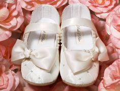 Baby Girl Shoes  Wedding Flower Girl Shoes by Pink2Blue on Etsy