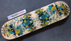 Today's Featured Deck is from Tiphanie Golaz and is inspired by French artist Jean Dubuffet. www.BoardPusher.com skate skateboard skateboards skateboarding art artists sk8 life graphics design