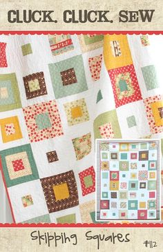 The first quilt I will make... for our bed.  Not these colors exactly, but very similar.  Just minus the red and green.
