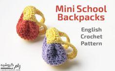 Crochet Mini School Backpack • Raam Crochet