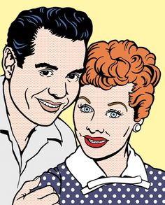 Lucy and Desi No. 2 by Jennifer Holzner, via Behance