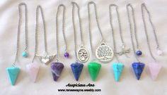 Custom Pendulums - Turquoise, Rose Quartz, Amethyst, Lapis Lazuli and Jade www.reneewayne.weebly.com