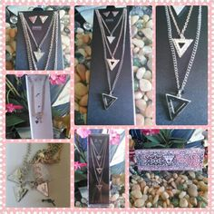 """Guess Necklace & Earrings Set NWOT New in Box without Original Tags  Guess Necklace & Earrings Set Necklace are two silver tone & one gold tone Necklace lengths vary: 16"""", 18"""" & 22"""" Earrings are silver tone 2"""" big Guess Jewelry"""