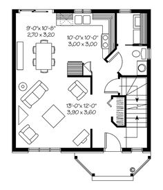 primer piso plano de casa 108m2