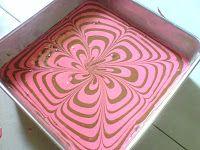 Chocolate Strawberry Marble Cake
