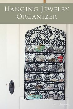 Hanging Jewelry Organizer - vinyl pockets make it easy to see and organize your jewelry!