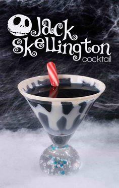toller Cocktail: Der Jack Skellington (Nightmare Before Christmas) - Cocktail - Cocktail Disney Cocktails, Halloween Cocktails, Christmas Cocktails, Holiday Drinks, Alcholic Halloween Drinks, Disney Alcoholic Drinks, Christmas Drinks Alcohol, Alcoholic Shots, Vodka Shots
