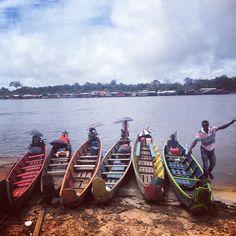 Face au Surinam #Maripasoula #Maroni #Surinam #pirogue