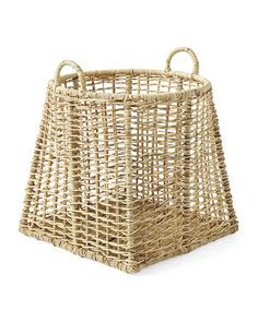 If smart storage is the perfect blend of practicality and beauty, Ashby certainly fits the bill. The shape is unusual, the basket itself generously sized for storing anything from toys to kindling, and the wicker frame has been artfully handcrafted using traditional basket-weaving techniques.