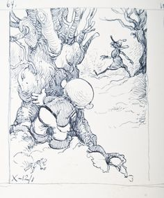 Jean Dulieu - Paulus de Boskabouter, originele schetsen