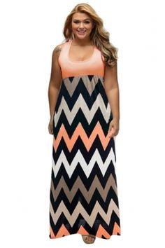 Plus size fitted maxi, love the pattern and colors  #plussizedress   #maxidress  #plussize   #summerdress  #plussizefashion   affiliatelink