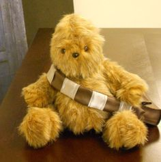 This woman modified an existing teddy bear pattern to create wookie teddy bear