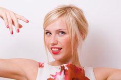 bridesmaid updo for fine hair