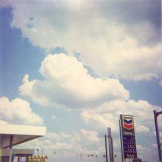 Gas #polaroid #sky #gasstation #gas #chevron