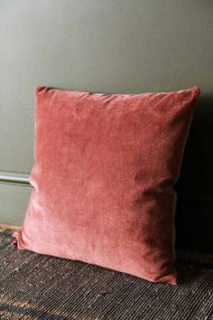 Luxury touches like this Terracotta Velvet Cushion can turn a simple abode into a chateau.