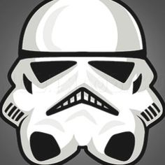 How To Draw A Stormtrooper Easy by Dawn | Face Painting Designs, Paint Designs, Darth Maul Clone Wars, Painting For Kids, Rock Painting, Pebble Painting, Pebble Art, Star Wars Painting, Star Wars Drawings