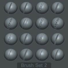 ArtStation - 16 Custom Seam/Stitch brushes for zBrush SET #2, Daniel Palmi