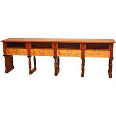 Monumental British Colonial Carved Refectory Table