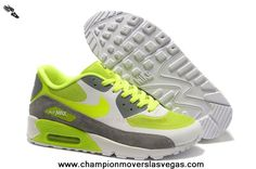 Nike Air Max 90 Hyperfuse Womens Trainers Fluorescent-Green Gray