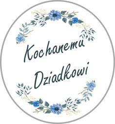 Etykietka na kartkę z okazji Dnia Dziadka! Digital Stamps, Mom And Dad, Cardmaking, Decorative Plates, Scrapbook, Illustration, Christmas, Cards, Handmade